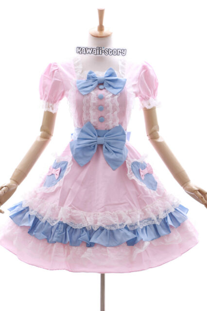 JL-604 Rosa Blau Sweet Herz Gothic Lolita Kleid Kostüm dress Cosplay stretch