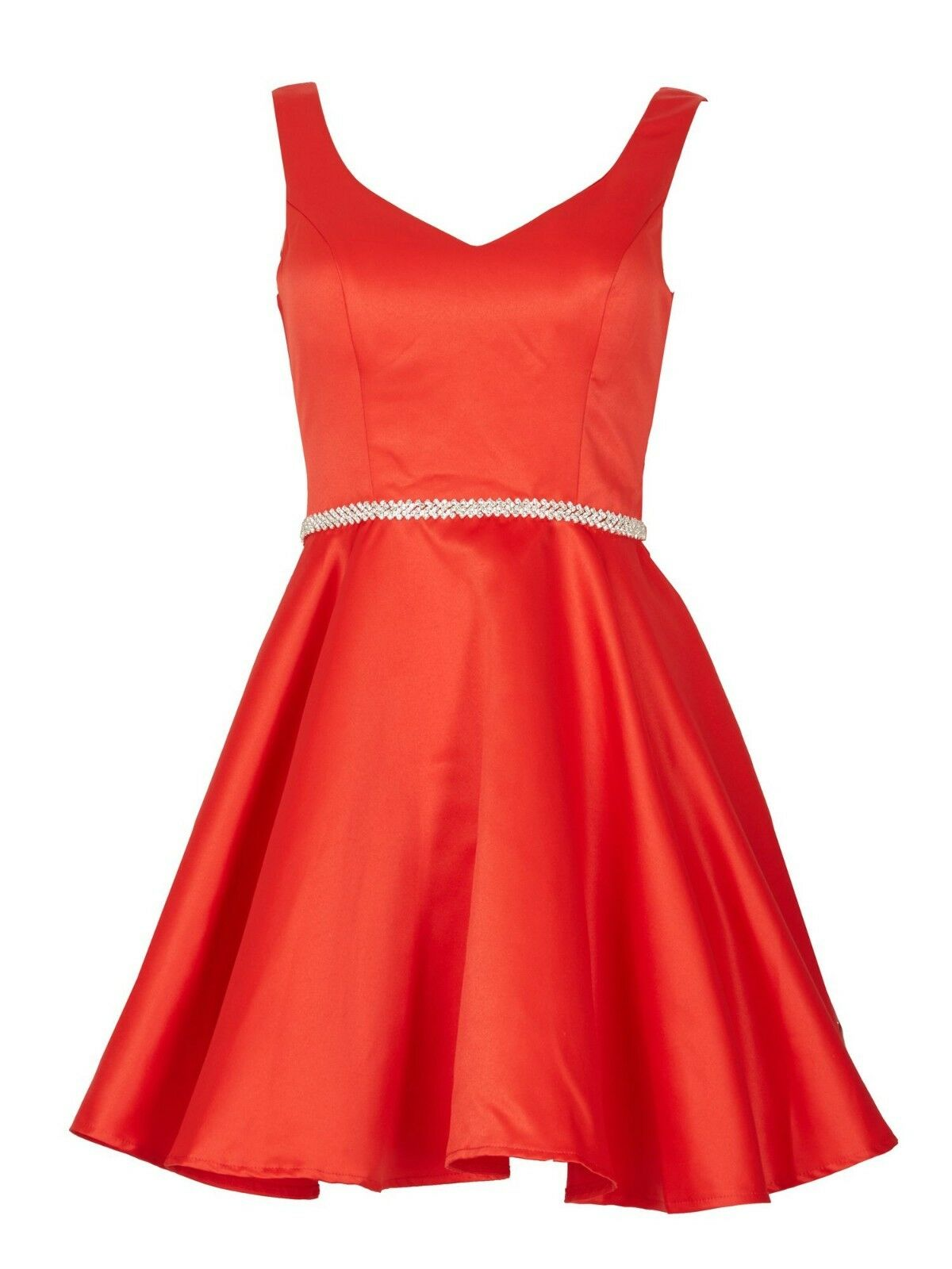 IZABEL LONDON RED DIAMANTE SEXY EVENING PROM PARTY DRESS SIZE 10  NEW