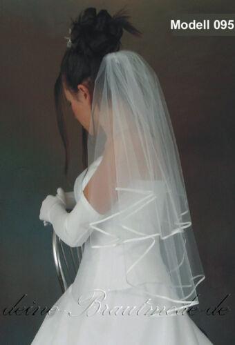 Brautschleier Schleier zur Hochzeit kurz lang weiss ivory creme champagner neu