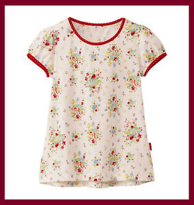 29ee9adf3 Details about Uniqlo Green Gate cute country floral pattern red Tee T-shirt  for girl kid 110