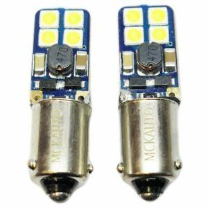 H6W-SLIM-Flat-Small-WHITE-Sidelight-LED-Bulbs-Set-Kit-Xenon-Canbus-BAX9s-2pcs