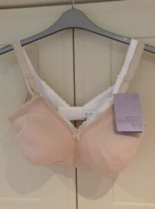 MARKS /& SPENCER 2 PACK NON WIRED MATERNITY NURSING BRAS ALMOND MIX SIZE 34 G