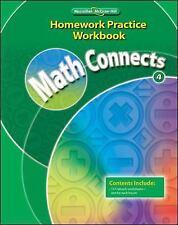 Math Connects, Grade 4, Homework Practice Workbook (ELEMENTARY MATH CONNECTS) b