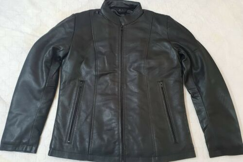 Jacket Leather Black Straight cut Ladies tqZ81nF