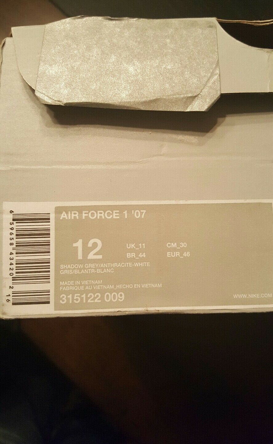NIKE AIR FORCE ONE Supreme  '07 SZ 12 315122 009