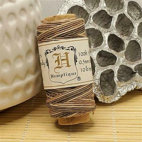 100/' 3-Ply Polished Tan Brown Ombre Hemp Cord String Spool