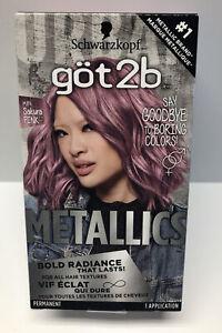 Schwarzkopf Got2b Metallics Permanent Hair Color M84 Sakura Pink