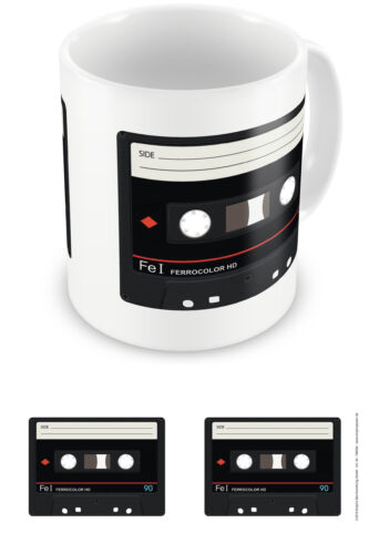 Keramik Tasse Cassette Tape Größe Ø8,5 H9,5 cm 80/'s tape