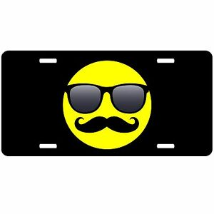 image is loading smiley face car tag mustache sunglasses shades front