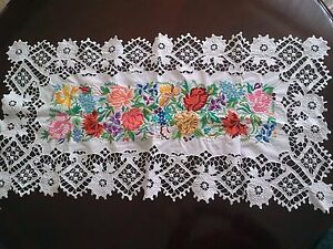 HAND EMBROIDERED TABLECLOTH - <span itemprop='availableAtOrFrom'>Coventry, United Kingdom</span> - HAND EMBROIDERED TABLECLOTH - Coventry, United Kingdom