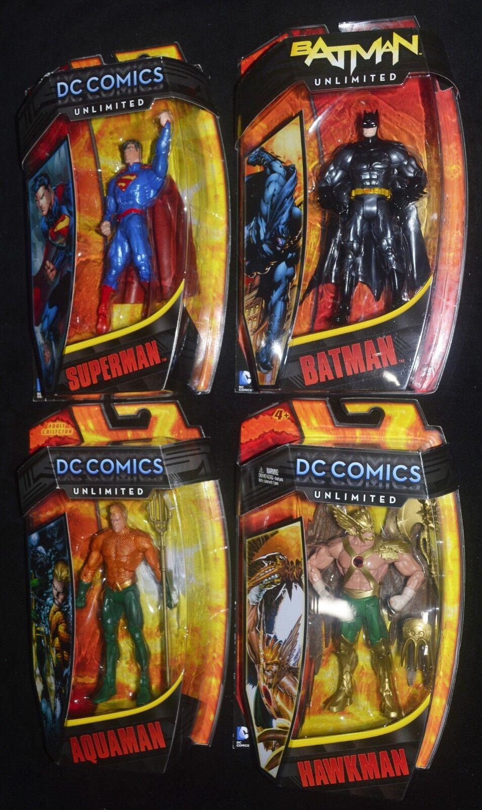 Dc comics unbegrenzte superman, batman, aquaman & falkenmann. wir kommen zurck von 4 6  zahlen mip