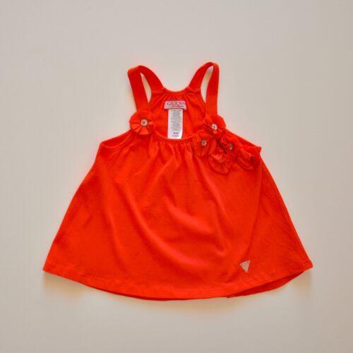Guess Girls Red Flower Detailed Dress//Top BNWT Sz 4//6//7-8//10-12//14//16 RRP$26.50