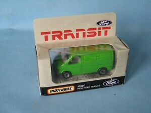 Matchbox-Ford-Transit-Van-Green-Body-Dutch-Promo-Issue-Delivery-Courier-Van