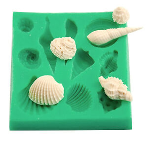 SELL-Sea-Shells-Silicone-Mould-Beach-Decor-Fondant-Icing-Cake-Cookie-Chocolate