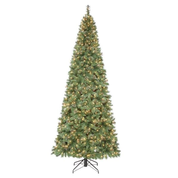 Artificial Christmas Tree 10 Ft: Home Accents Holiday 10 Ft. Pre-Lit Juniper Spruce