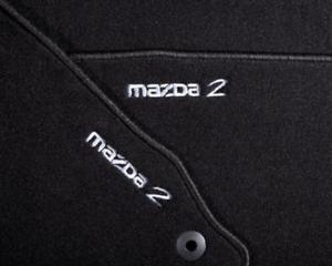 mazda 2 DE textil Fußmatten Luxury mit Logo Geschenk idee
