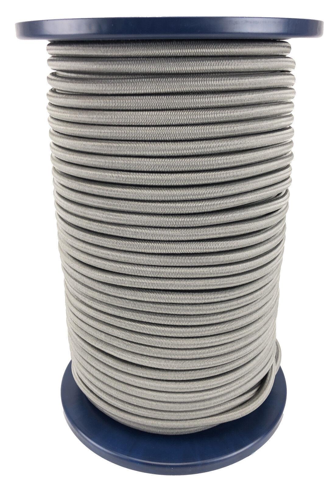 12 mm grau elastisches Gummi seil. Gummiseil festbinden x 50 Metre Rolle