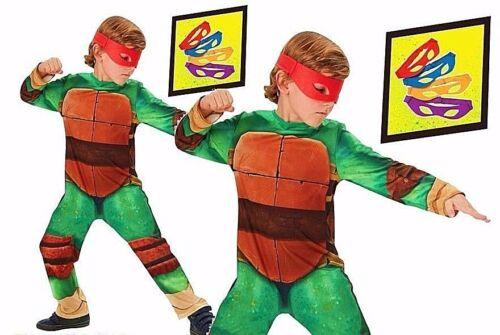 Boys Licensed TEENAGE MUTANT NINJA TURTLES Fancy Dress Costume TMNT Book Week