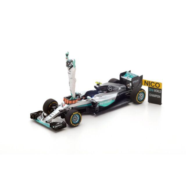 SPARK MERCEDES F1 W07 Hybrid Abu Dhabi 2016 N. Rosberg Champion 2016 S5025 1/43