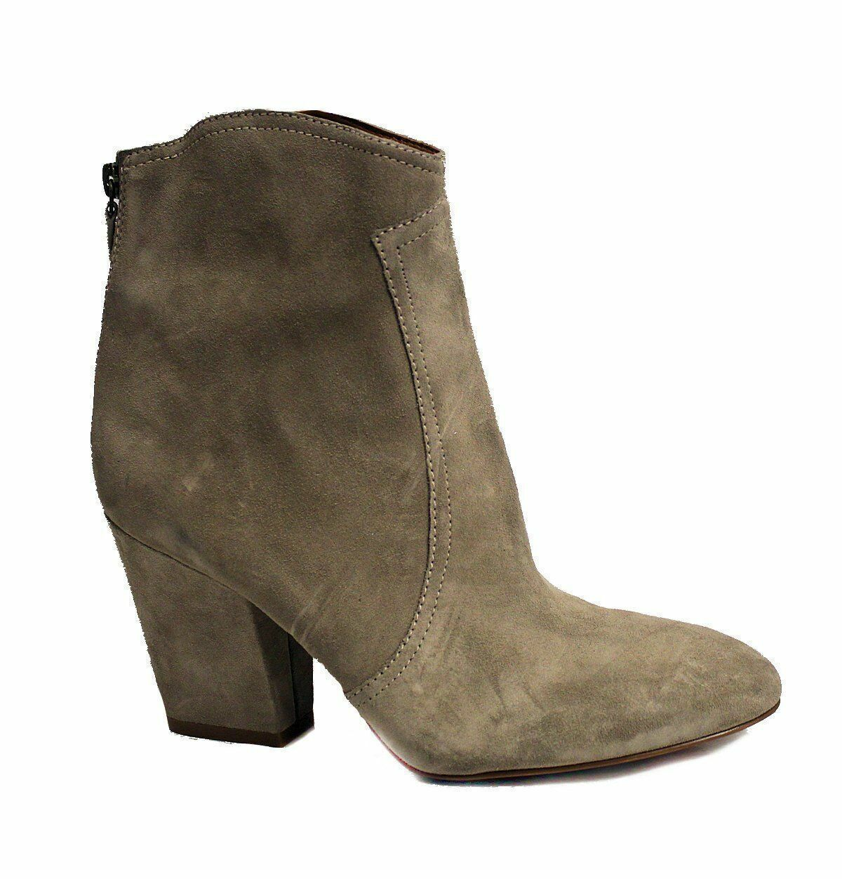 Nine West Women's Dashiell Suede Boot Taupe US 9 NOB