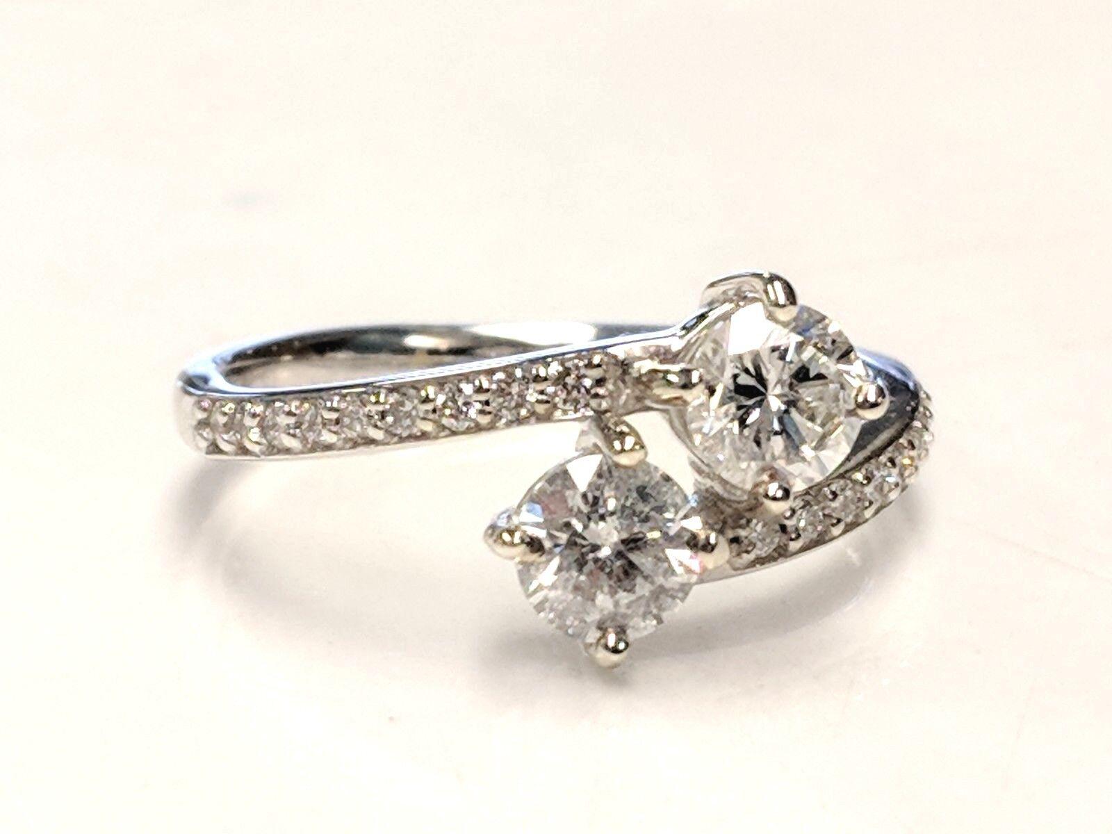 4df21f41c2589 Ring Diamond Bi-pass 1CTW NEW in gold White 14KT sbbr175424110 ...