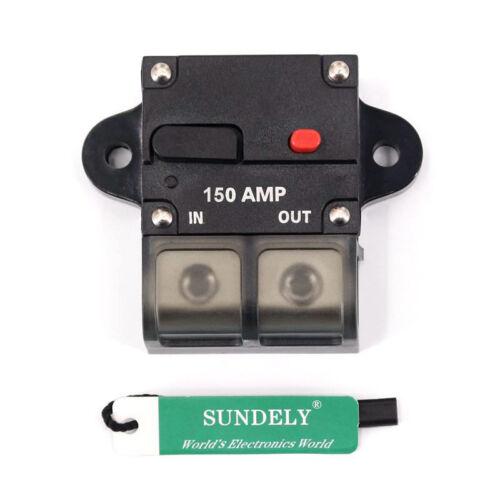 Rapid transit 50-300 Amp Circuit Breaker 0 or 4 Gauge Wire Terminal Car 12V-42V