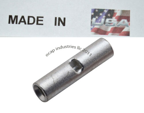 6 2 Gauge NON-INSULATED BUTT SEAMLESS WIRE CONNECTOR UNINSULATED Made In USA