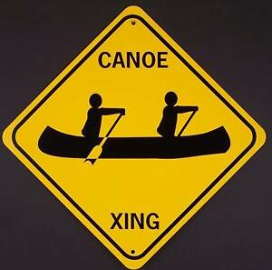 CANOE-XING-Aluminum-Boat-Kayak-Sign-Won-039-t-rust-or-fade