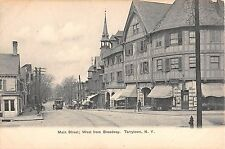 c.1905 Stores Drug Store Main St. West Tarrytown NY post card Westchester county
