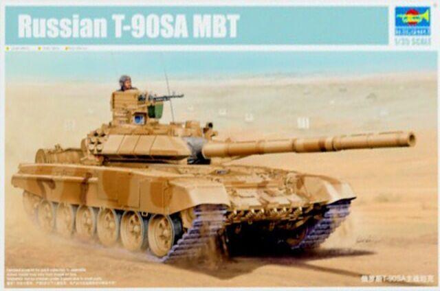 Trumpeter 05563 1 35 Russian T-90SA Main Battle Tank Armored Car Model Static