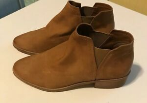 DOLCE-VITA-TAN-Soft-LEATHER-ANKLE-BOOTS-Booties-Pull-On-SZ-9-5-Retail-200