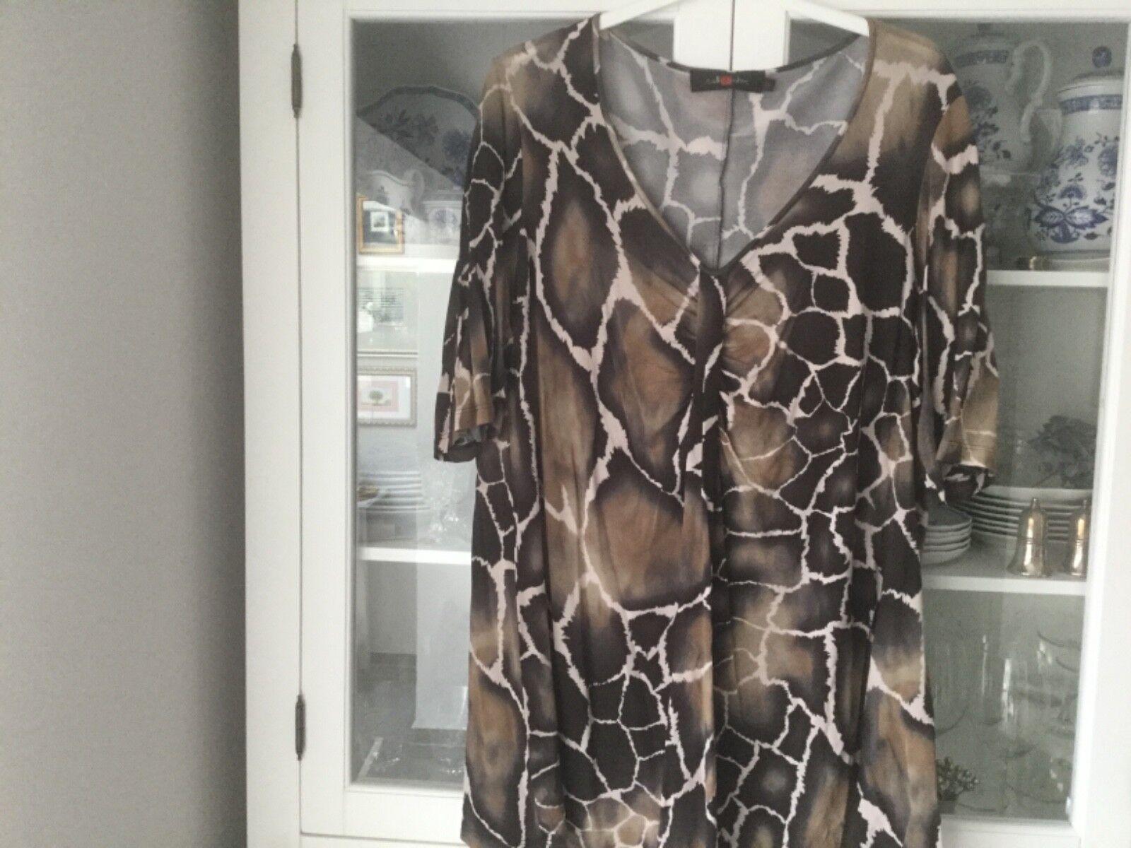 Sallie Sahne Tunika Shirt Gr. 50 Geparden Muster