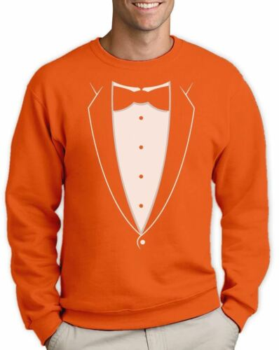 Tuxedo Bowtie Suit Funny Sweatshirt Bachelor Party Prom Costume Groom Party Tux