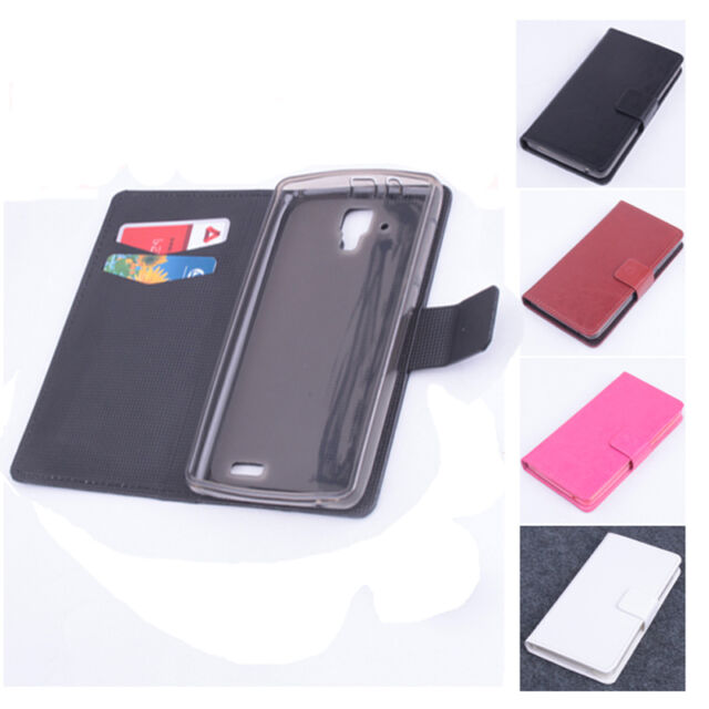 Flip Stand Leather Protective Cover Case For Lenovo A536 Smartphone Free Ship