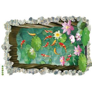 Poisson-3D-A-faire-soi-meme-Maison-de-Famille-Autocollant-Mural-Amovible-Mural-Decalques-Art-Vinyle