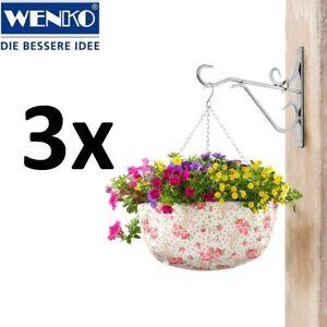 Das Bild Wird Geladen WENKO 3x Pflanzampel 36 Cm Mit Blumendekor Rose