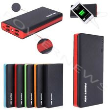 2000000mAh 4 USB External Power Bank Portable LCD LED Charger for Cell Phone US