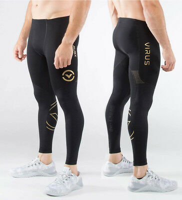 Virus Men/'s Stay Cool 3//4 Length Compression Boot Cut Pants RX5-V3 BLACK//RED