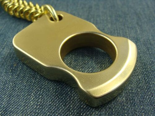 Solid Brass Keychain Pendant Outdoor Survival Escape Tool EDC