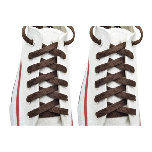 """2 Pairs Flat 27/"""",36/"""",45/"""",54/"""",63/"""" Athletic Sports Sneaker Brown Shoelace Strings"""
