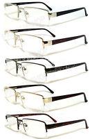 Premium Man Metal Frame Semi Rimless Clear Lens Reading Glasses Re34 4 Color