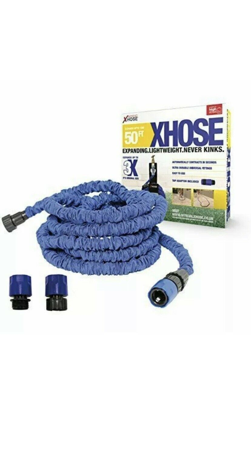 B&Q Xhose 50ft New Other Tap Adapter Included Blue