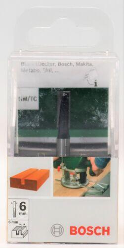 AUSWAHL+ Bosch HM//CT Nutfräser zweischneidig Oberfräse 6mm Schaft Fräser Fräsen