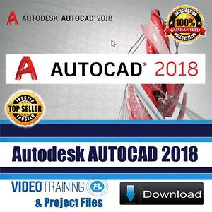 Details about Autodesk AutoCAD 2018 Video Training Tutorial Course Instant  DOWNLOAD