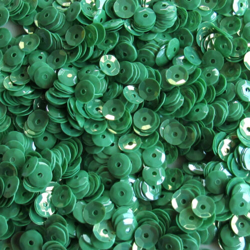 Sequins Medium Mint Green Lustre 5mm Round Cup ~1,000 or ~12,500 pieces Loose HQ