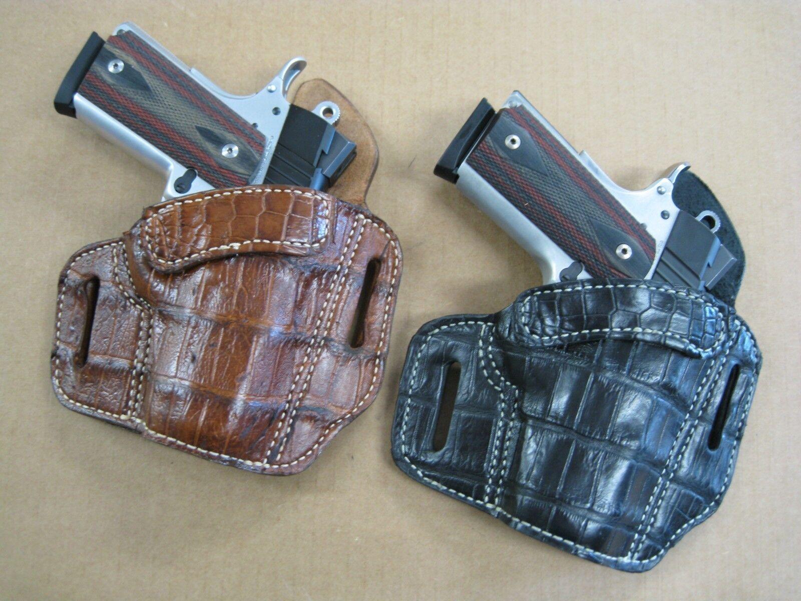 Azula Cocodrilo owb 2 Ranura Panqueque funda de cinturón CCW para.. Elige Color Y Gun - 2