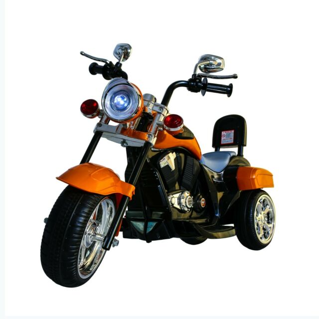 Ride On Toy 3 Wheel Trike Chopper Motorcycle For Kids By Hey Play Battery P For Sale Online Ebay