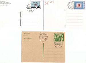 100% Vrai 3 Entiers Postaux 1995/94/91 Helvetia Suisse /ep19 MatéRiaux Soigneusement SéLectionnéS