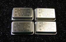 CTS Oscillator 25MHz 5V 974-6149-0015, DIP-14, Qty.4