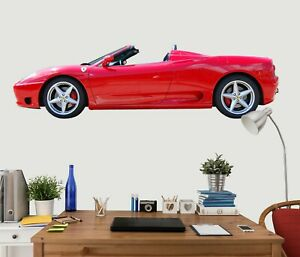 Super Sports Car Ferrari Red Wallpaper Mural Photo Poster Decoration